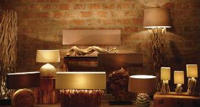 天然素材の照明 luxtree