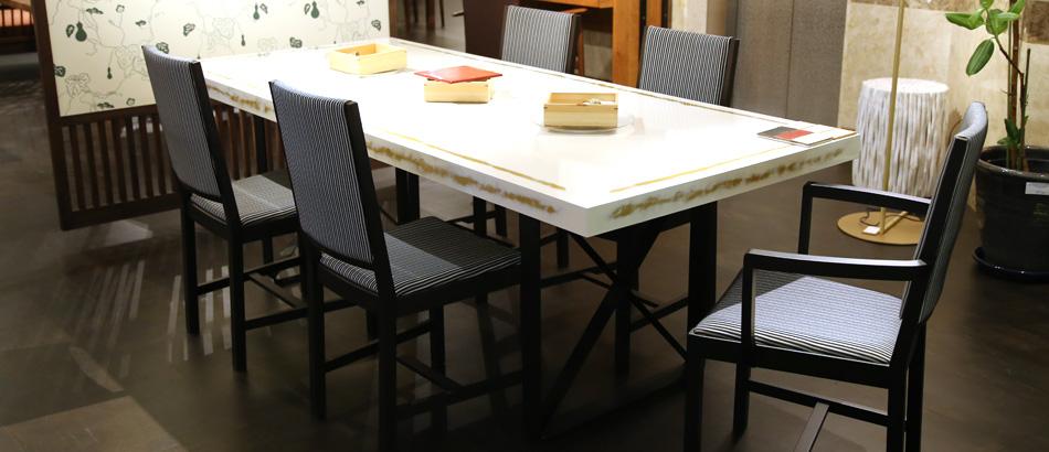 URUSHI うるし ダイニングテーブル展示