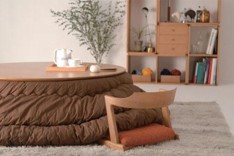 日進木工geppoこたつ(ローテーブル)と掛け布団