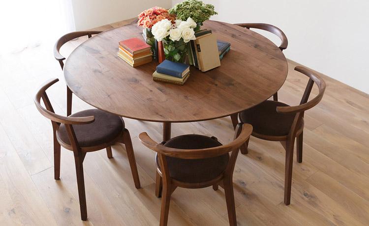 アジレ 円形 ダイニングテーブル 選び方 使い勝手 メリット サイズ
