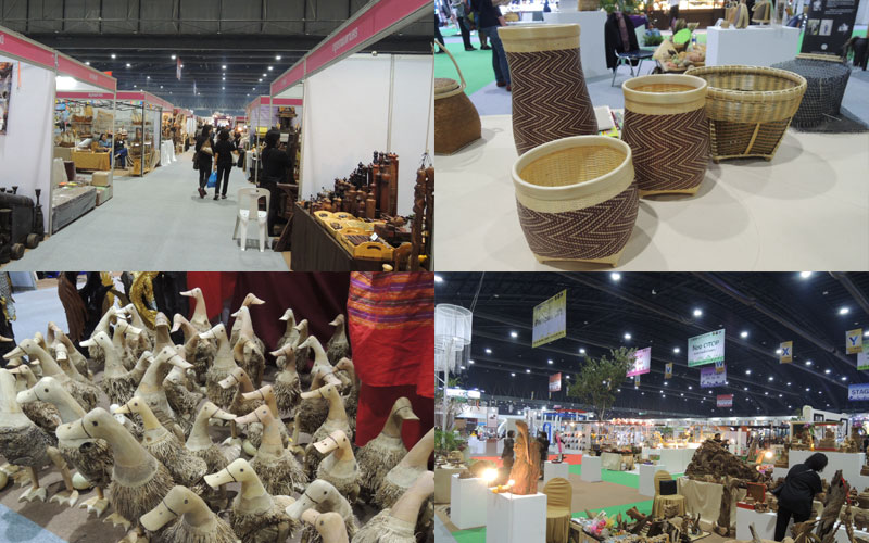 タイのOTOP展示会の様子