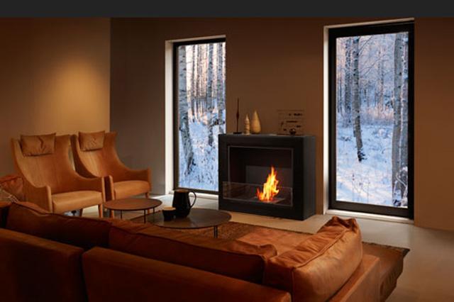 インテリア性の高い暖炉