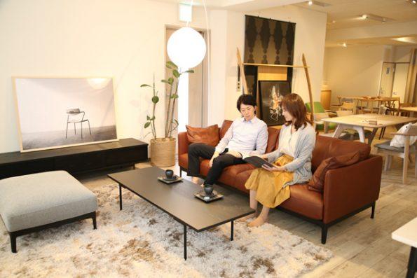 dual sofa 3P leather 展示