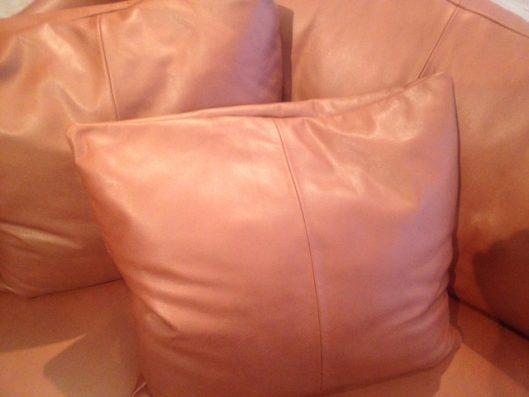 dual sofa 3P leather クッション