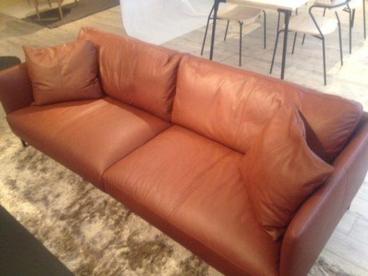 dual sofa 3P leather 座面