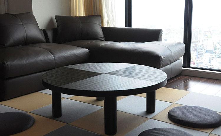 ローテーブル選びのポイント、床のイメージで和風に合わせたシーン