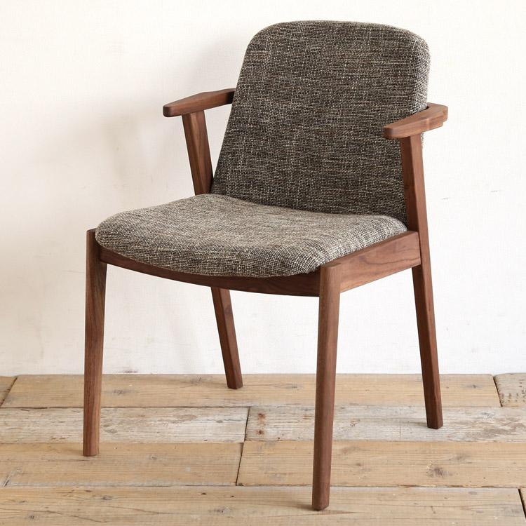 ウォールナット材の椅子(チェア)とベージュの張地