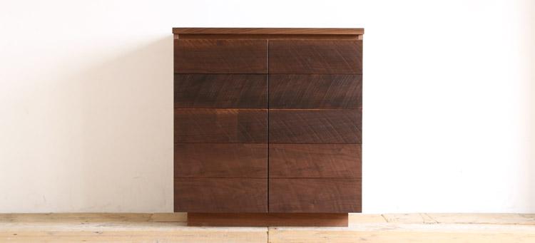 オーダー家具 キャビネット、おしゃれな格子デザイン