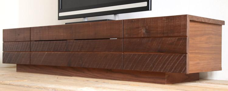 オーダー家具 テレビボード、素材感にこだわったデザイン