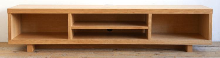 オーダー家具 テレビボード、扉無しのオープンタイプのテレビ台