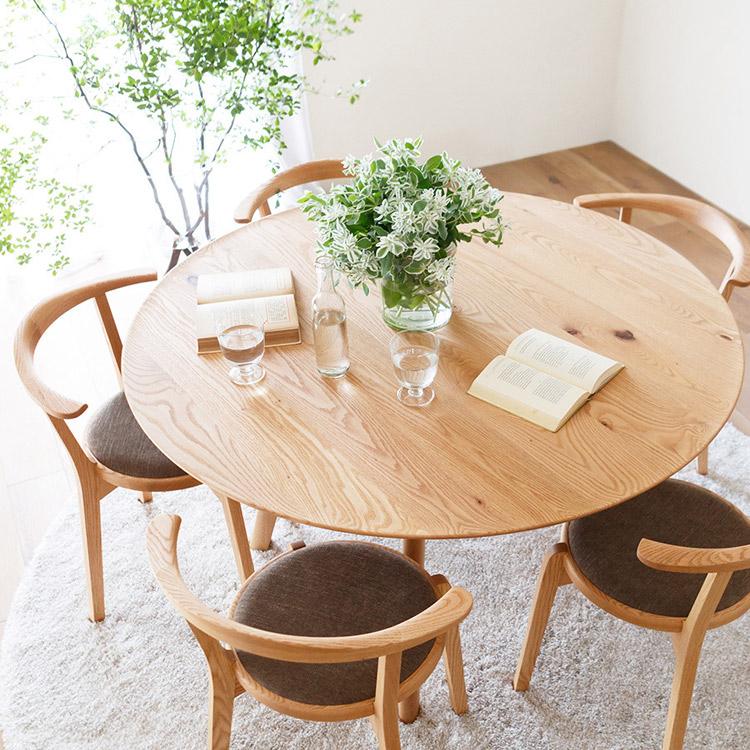 ヒラシマのアジレサークルダイニングテーブル