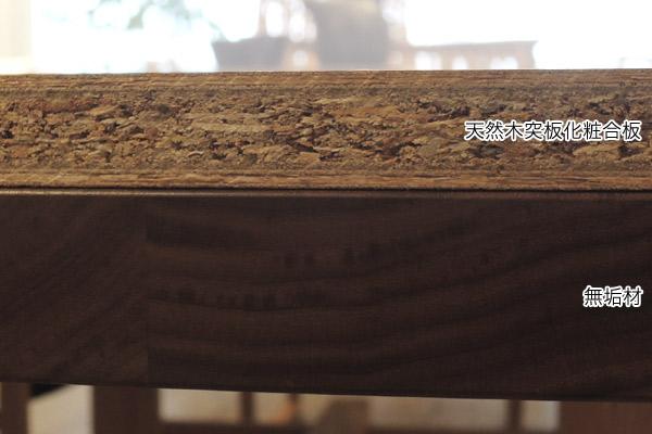 無垢材と突板