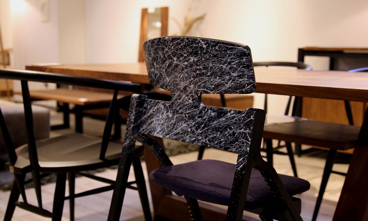 シブキ 飛沫 高蔵染 大阪マルキン家具コラボ商品 アップライトチェア