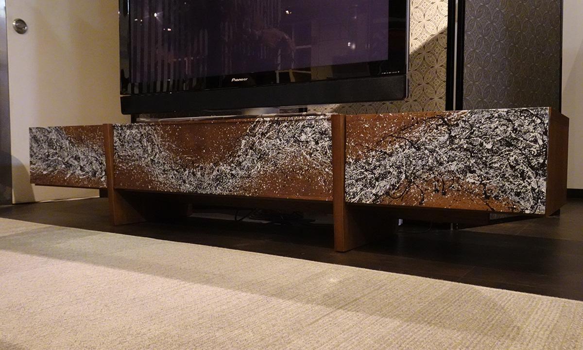 シブキ 飛沫 高蔵染 大阪マルキン家具コラボ商品 テレビボード