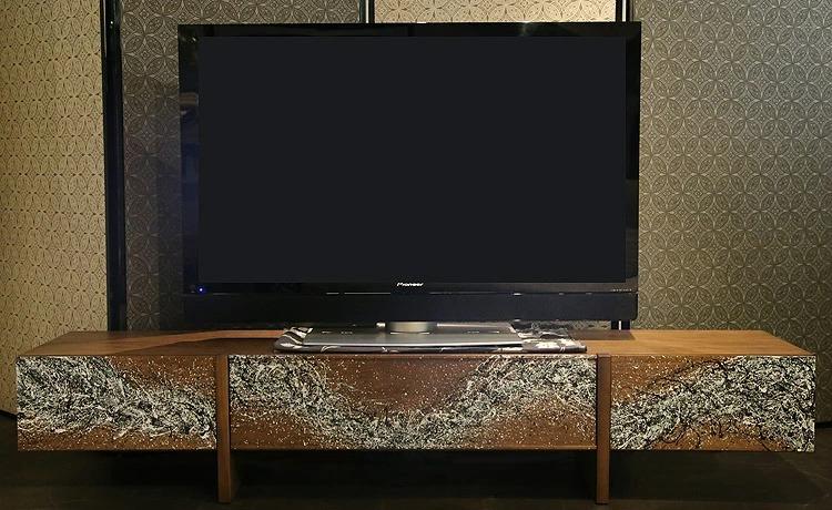 高蔵染 大阪マルキン家具 大下倉和彦 コラボレーション テレビボード