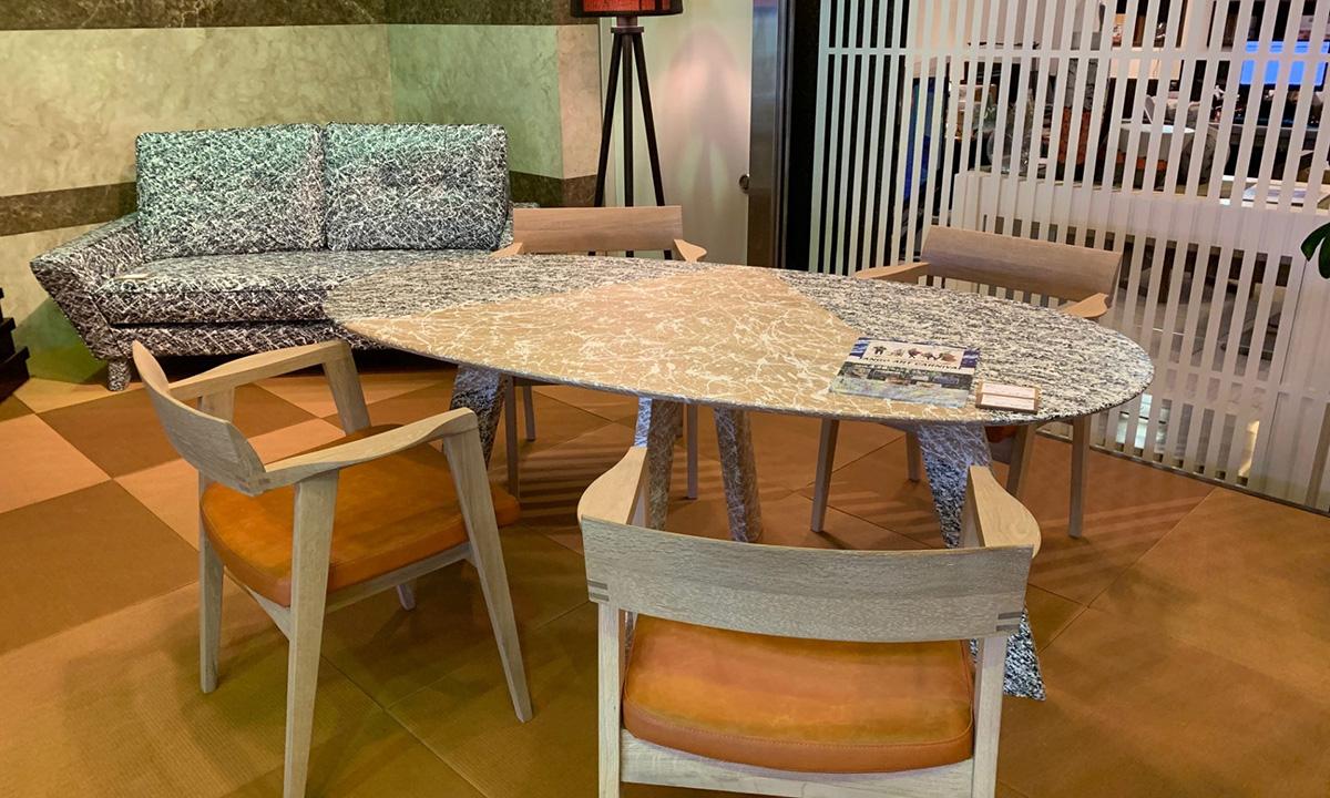 シブキ 飛沫 高蔵染 大阪マルキン家具コラボ商品 ソファ ダイニングテーブル