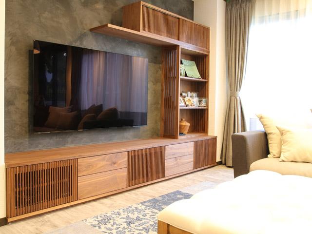 堺市T様邸after写真 テレビとソファでくつろぎの空間に