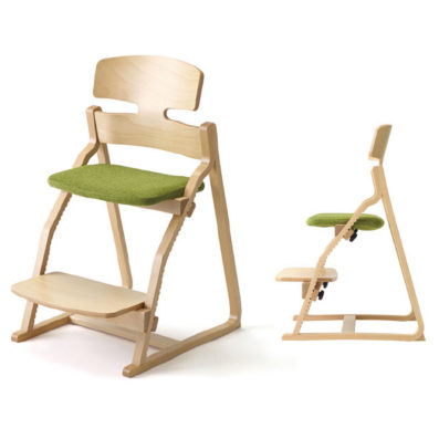 子ども姿勢を守る椅子 アップライトチェア 豊橋木工