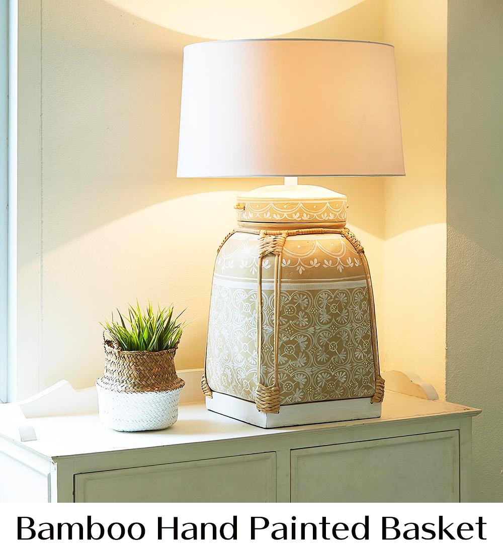 ラクスツリー照明、Bamboo-Hand-Painted-Basketの販売ページ