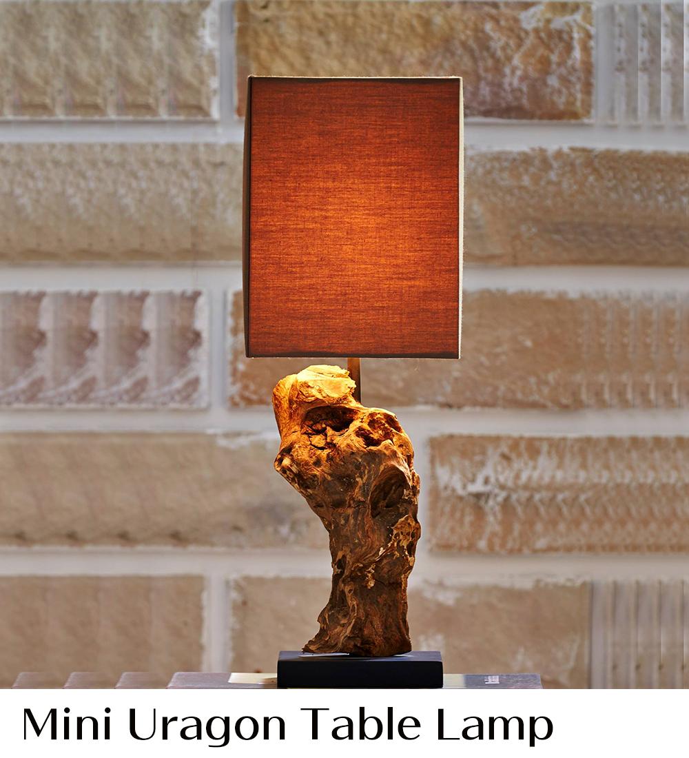 ラクスツリー照明、Mini-Uragon-Table-Lampの販売ページ