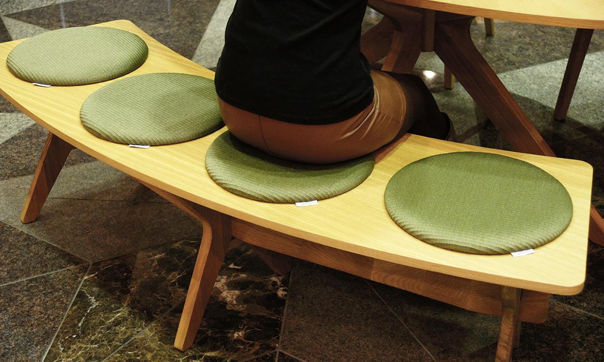 丸い畳の座布団・マカロン 使用例2