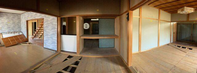 左から キッチン・6畳・8畳の部屋