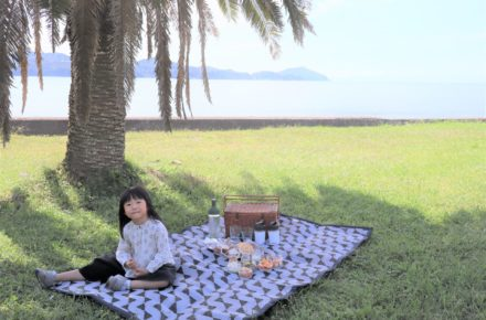 PDM洗えるRUG で海辺のピクニック