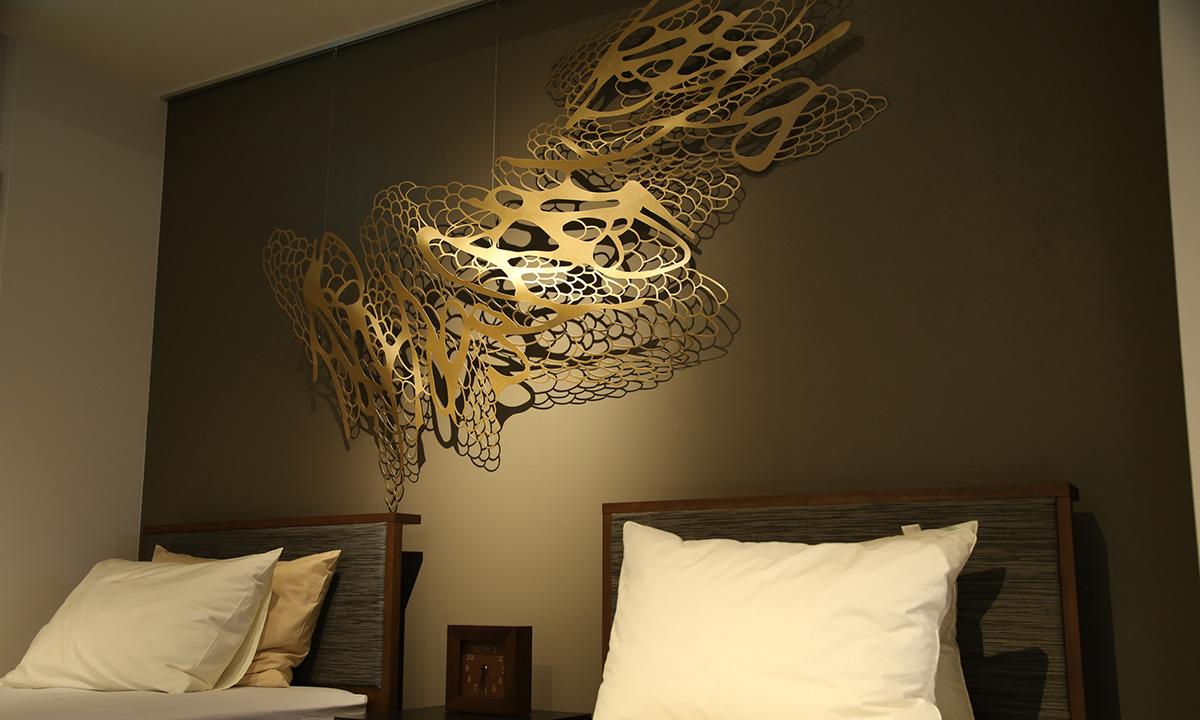 壁飾り ウォールアート アイアン おしゃれ 翼 アートのある暮らし