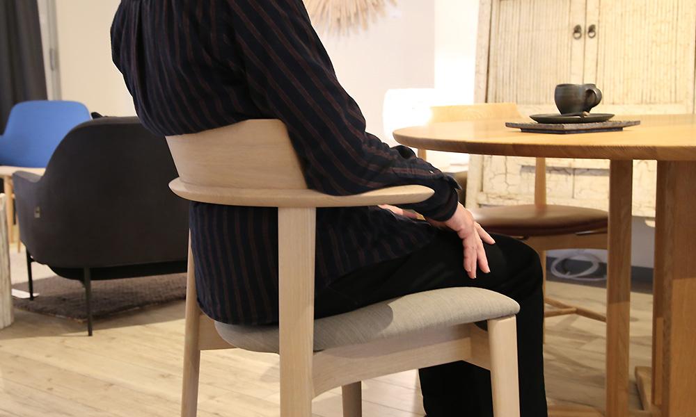 Sof ソフ ダイニングチェア 椅子 ちょい肘